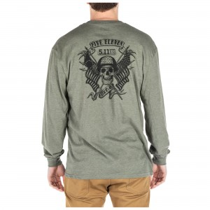 Koszulka 5.11 Banners & Bayonets L/S Military Green Heather