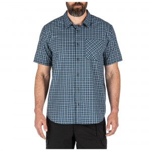 Koszula 5.11 Carson Plaid S/S Shirt Blueblood Plaid