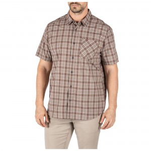 Koszula 5.11 Carson Plaid S/S Shirt Stone Plaid