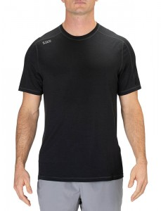 T-shirt 5.11 Range Ready Merino Wool Short Sleeve Black