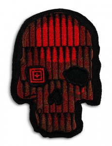 Patch 5.11 Crusty Bullet Skull Patch Red
